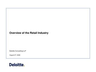Overview of the Retail Industry