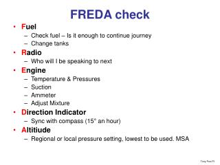 FREDA check