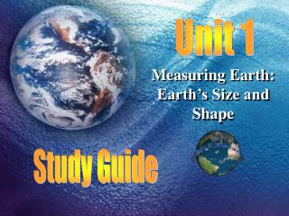 Measuring Earth: Earth's Size and Shape