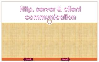 Http, server & client communication