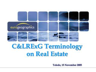 C&LRExG Terminology on Real Estate