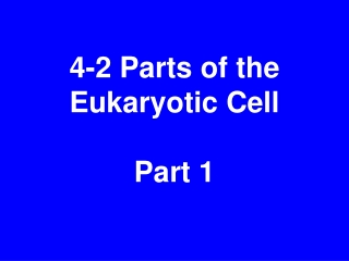 4-2 Parts of the Eukaryotic Cell Part 1