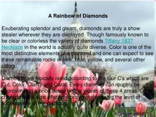 A Rainbow of Diamonds