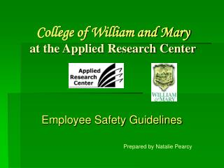 College of William and Mary at the Applied Research Center