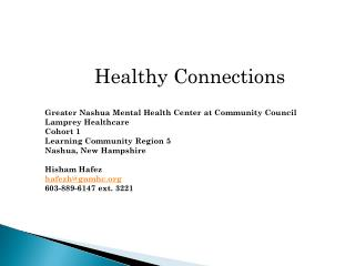 Healthy Connections Greater Nashua Mental Health Center at Community Council