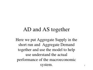 AD and  AS  together