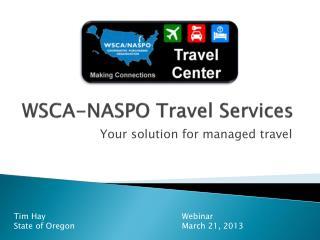 WSCA-NASPO Travel Services