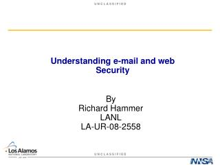 Understanding e-mail and web Security