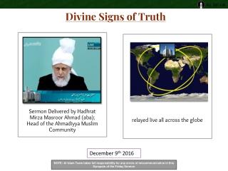 Sermon Delivered byHadhrat Mirza Masroor Ahmad (aba); Head of the Ahmadiyya Muslim Community