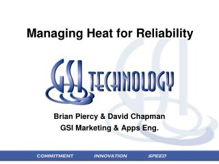Managing Heat for Reliability