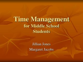 Time Management for Middle School Students