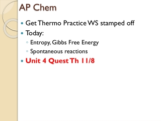 Entropy  Gibbs Free Energy