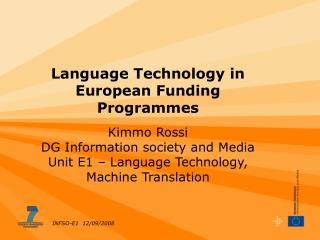 Language Technology in European Funding Programmes