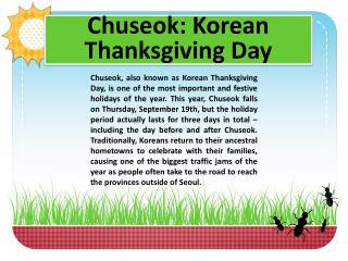 Chuseok : Korean Thanksgiving Day