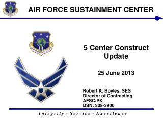 5 Center Construct Update 25  June 2013