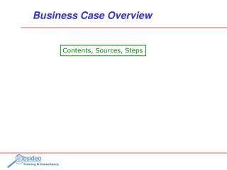 Business Case Overview