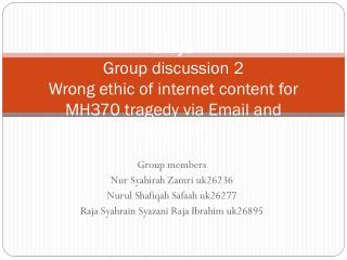 triSya Group discussion 2 Wrong ethic of internet content for MH370 tragedy via Email and 9gag