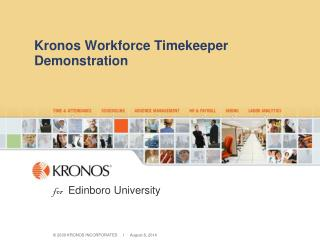 Kronos Workforce Timekeeper Demonstration