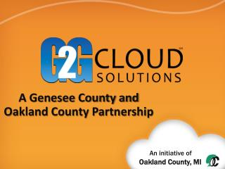 A Genesee County and Oakland County Partnership