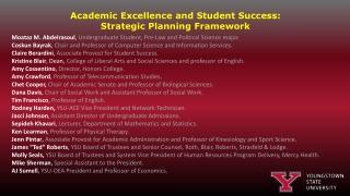 Academic Excellence Framework
