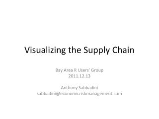 Visualizing the Supply Chain
