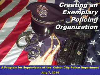 What is Policing; Who Are the Police