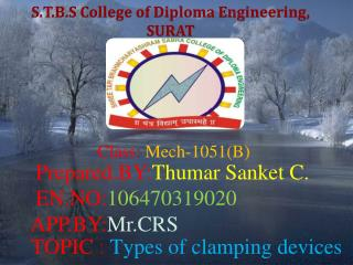 S.T.B.S College of Diploma Engineering,  SURAT