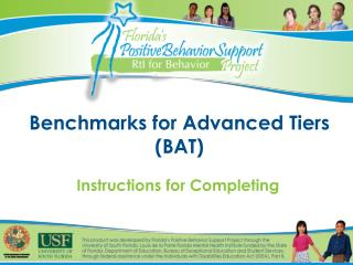Benchmarks for Advanced Tiers (BAT)