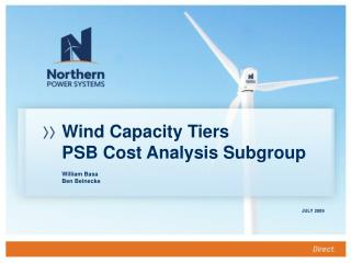 Wind Capacity Tiers PSB Cost Analysis Subgroup