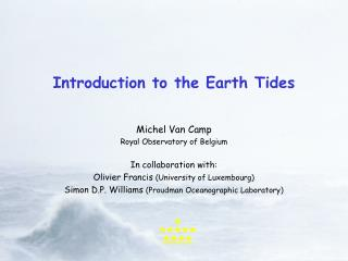 Introduction to the Earth Tides