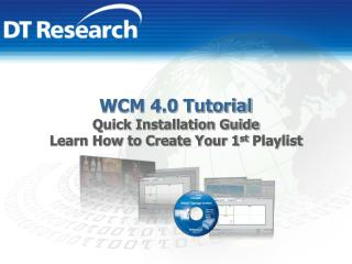 WCM 4.0 Tutorial Quick Installation Guide Learn How to Create Your 1 st  Playlist