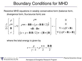 Boundary Conditions for MHD