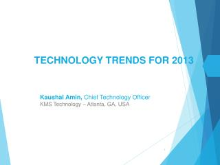 Technology Trends for 2013
