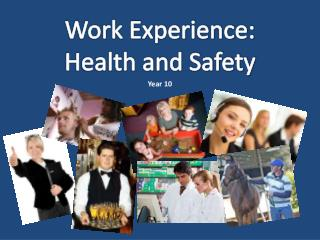 Work Experience: Health and Safety