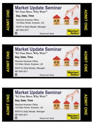 Day, Date, Time Weichert Anytown Office 123 Main Street, Anytown, US RSVP to Sally Woods,  Manager