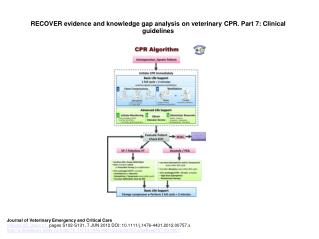 RECOVER evidence and knowledge gap analysis on veterinary CPR. Part 7: Clinical guidelines