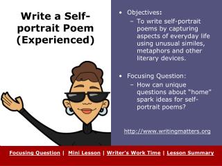 Write a Self-portrait Poem (Experienced)