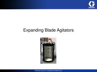 Expanding Blade Agitators