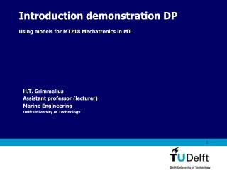 Introduction demonstration DP