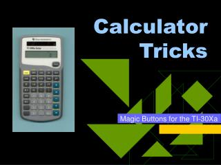 Calculator Tricks