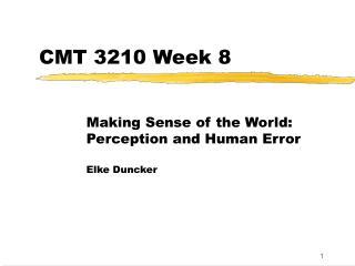 CMT 3210 Week 8