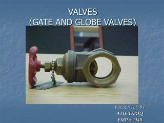 VALVES (GATE AND GLOBE VALVES)