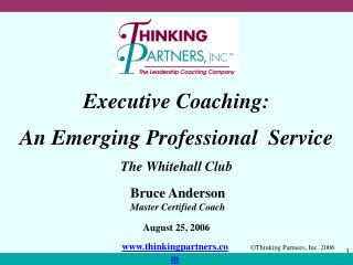 Executive Coaching: An Emerging Professional  Service