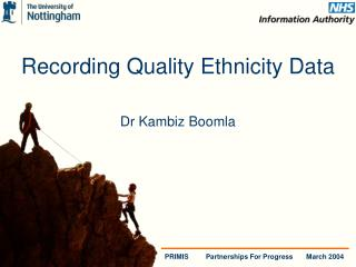 Recording Quality Ethnicity Data