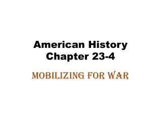 American History Chapter 23-4