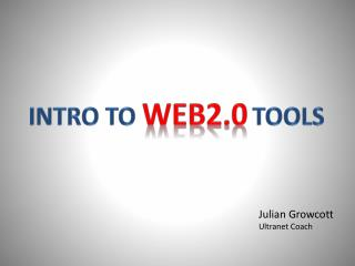 Intro to  Web2.0 tools