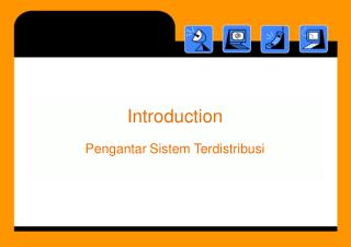 Introduction Pengantar Sistem Terdistribusi