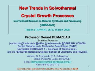 New Trends in Solvothermal Crystal Growth Processes