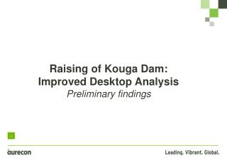Raising of  Kouga  Dam:  Improved Desktop Analysis Preliminary findings