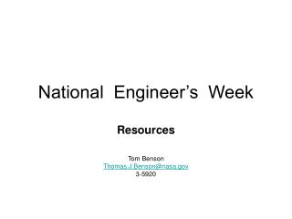 National  Engineer s  Week